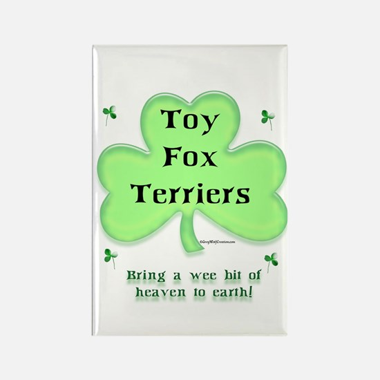 Toy Fox Heaven Rectangle Magnet
