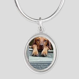 GCQ004_Rogan Silver Oval Necklace