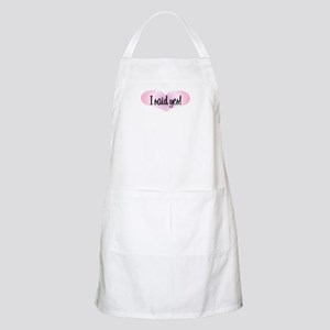 I Said Yes! - Pink Heart BBQ Apron