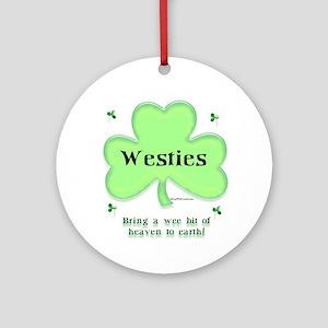 Westie Heaven Ornament (Round)