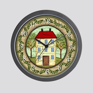 Primitive Folk Art Country Home Wall Clock