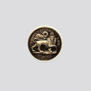 Jah Lion Rastafarian Mini Button