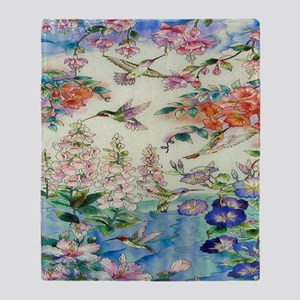 HUMMINGBIRD_STAINED_GLASS_8 BY 10 Throw Blanket