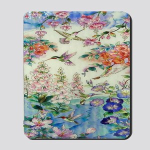 HUMMINGBIRD_STAINED_GLASS_8 BY 10 Mousepad