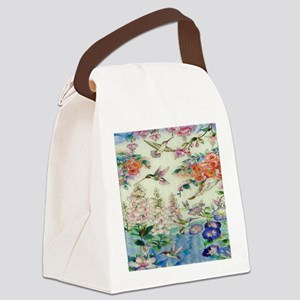 HUMMINGBIRD_STAINED_GLASS_8 BY 10 Canvas Lunch Bag