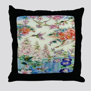 HUMMINGBIRD_STAINED_GLASS_8 BY 10 Throw Pillow