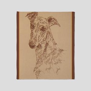 Greyhound_Fawn_KlineX Throw Blanket