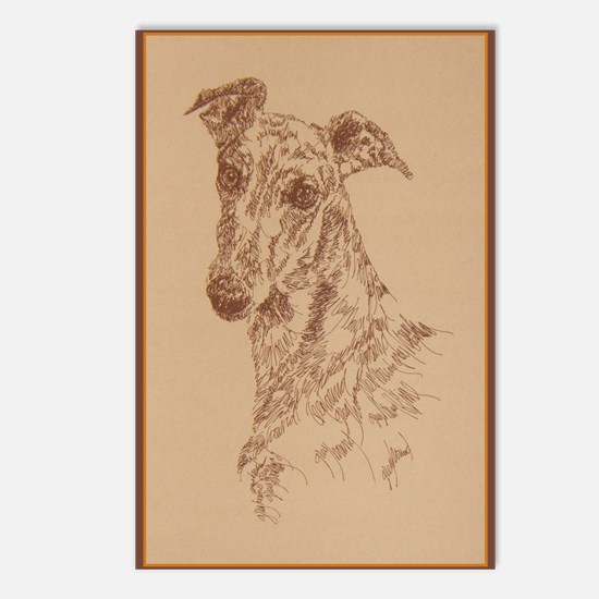 Greyhound_Fawn_KlineX Postcards (Package of 8)