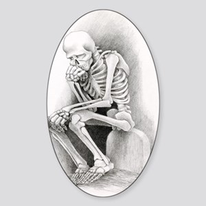 Day of the Dead Thinker Sticker (Oval)