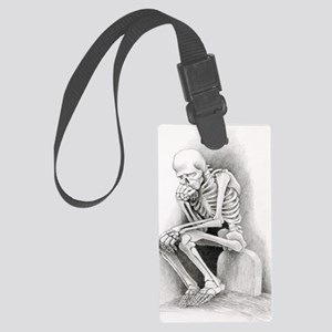 Day of the Dead Thinker Large Luggage Tag
