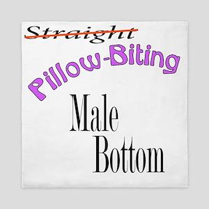 Str8 Pillow-Biting Queen Duvet