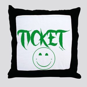 1stclassticketb Throw Pillow