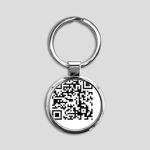 qr code Round Keychain