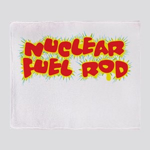 NuclearRod-10x10-new black Throw Blanket