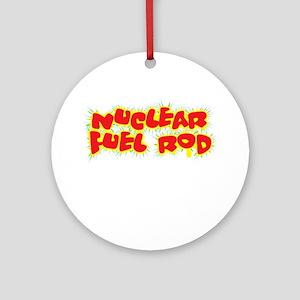 NuclearRod-10x10-new black Round Ornament