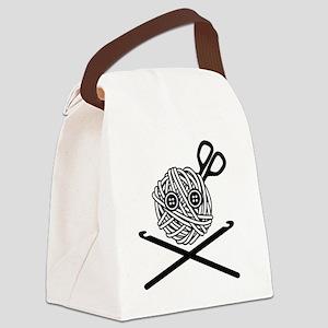 PirateCrochet06_black Canvas Lunch Bag