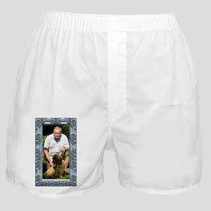 Custom silver baroque framed photo Boxer Shorts