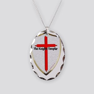 Templar Shield Large Necklace Oval Charm