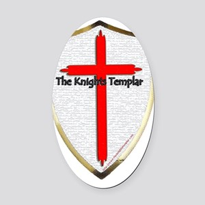 Templar Shield Large Oval Car Magnet