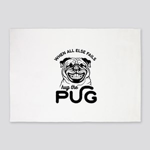 Hug the Pug 5'x7'Area Rug