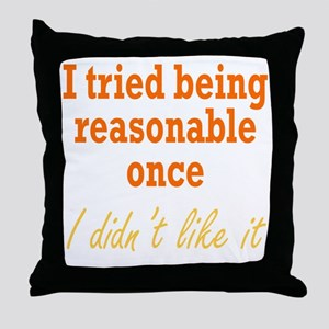 reasonable3 Throw Pillow