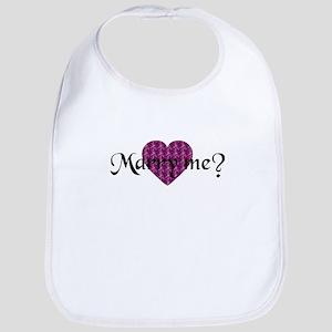 Marry Me? - Fuchsia Heart Bib