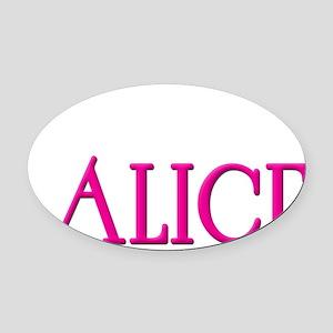 Team Alice Blk Oval Car Magnet