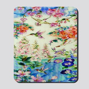 HUMMINGBIRD_STAINED_GLASS_16 20 Small Po Mousepad