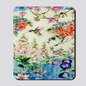 HUMMINGBIRD_STAINED_GLASS_23 35 Large Po Mousepad