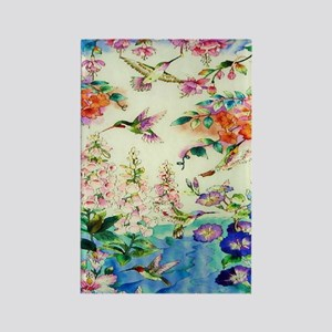 HUMMINGBIRD_STAINED_GLASS_23 35 L Rectangle Magnet