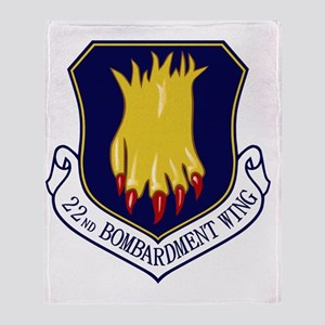 22nd Bomb Wing Throw Blanket