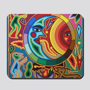 Mexican_String_Art_Image_Sun_Moon_12by12 Mousepad