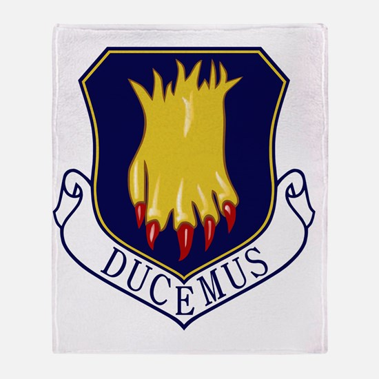 22nd Bomb Wing - Ducemus Throw Blanket