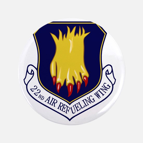 """22nd Air Refueling Wing 3.5"""" Button"""