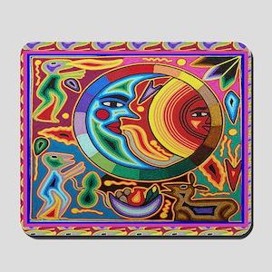 Mexican_String_Art_Image_Sun_Moon_12 12 Mousepad