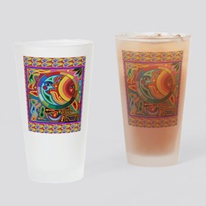 Mexican_String_Art_Image_Sun_Moon_1 Drinking Glass