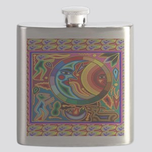 Mexican_String_Art_Image_Sun_Moon_12 12 Flask