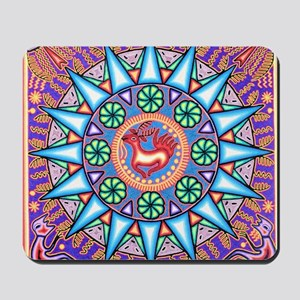 Mexican_String_Art_Gemetric_Sun_12 12 Mousepad