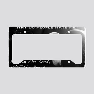 NormaJean BSL BW White Text C License Plate Holder