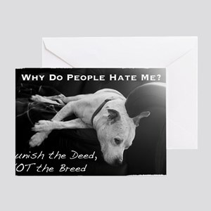NormaJean BSL BW White Text Couch Greeting Card