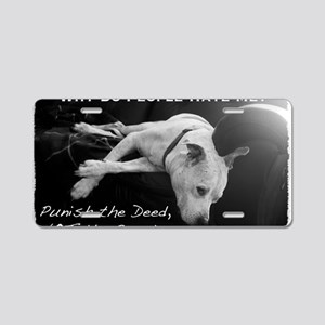NormaJean BSL BW White Text Aluminum License Plate