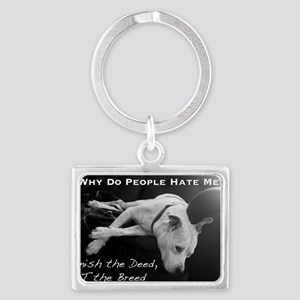 NormaJean BSL BW White Text Cou Landscape Keychain