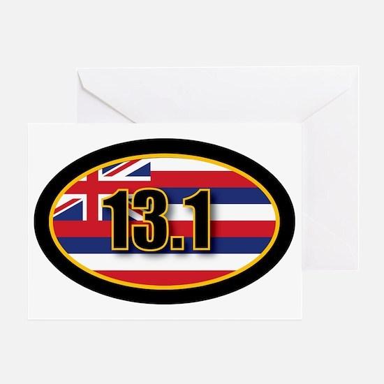 HAWAII-131-OVALsticker Greeting Card