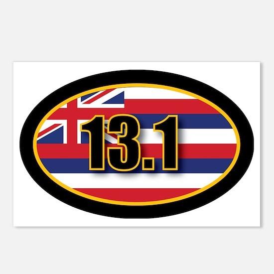 HAWAII-131-OVALsticker Postcards (Package of 8)