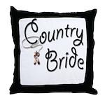 Western Bride Throw Pillow