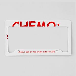 Chemo Bad Hair Days License Plate Holder