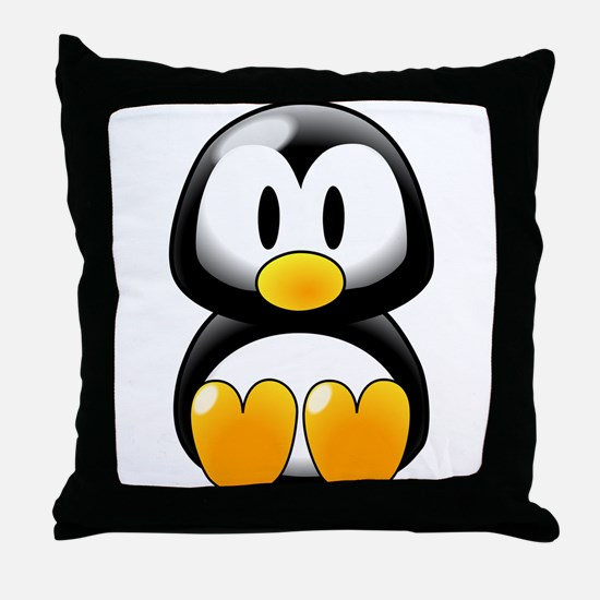 Tux! Throw Pillow