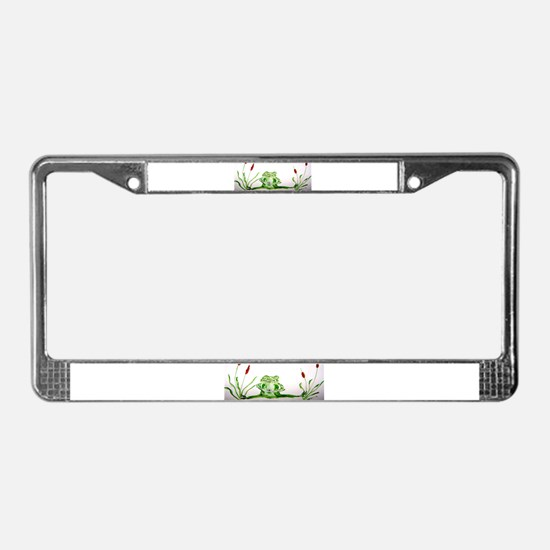 """Froggy Got a Skeeter!"" License Plate Frame"