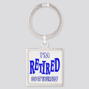 Im Retired Square Keychain