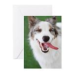 Smiling Dog Greeting Cards